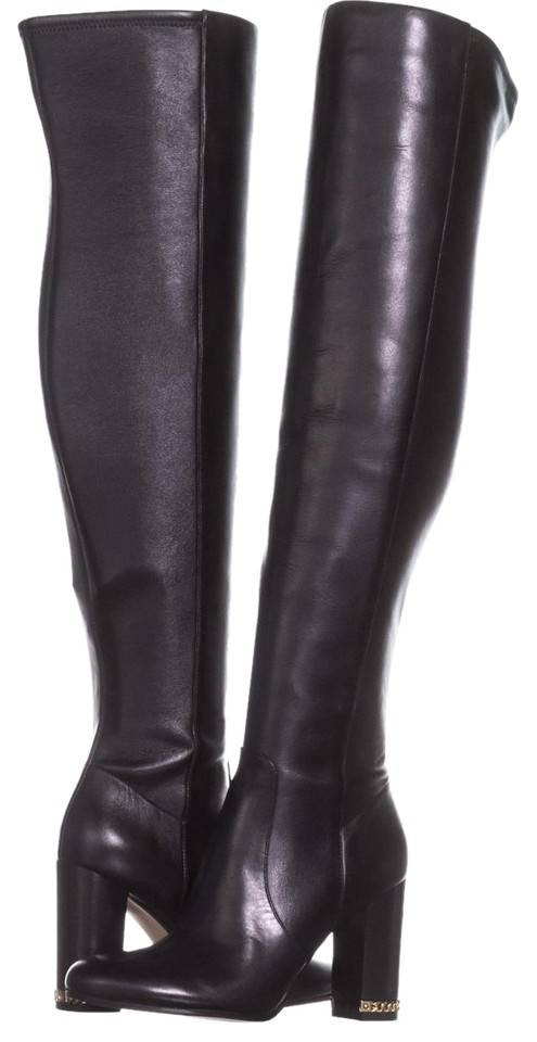 75f07acb98 Michael Kors Black Sabrina Over The Knee Chain 341 Boots/Booties ...
