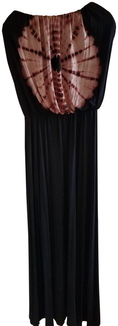 Item - Black/Brown And Long Casual Maxi Dress Size 8 (M)
