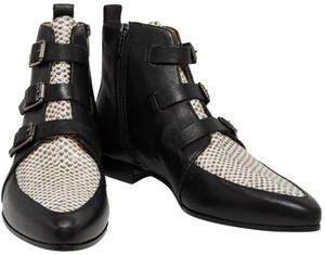 Jimmy Choo Python Ankle Buckles Limited Edition Black Boots