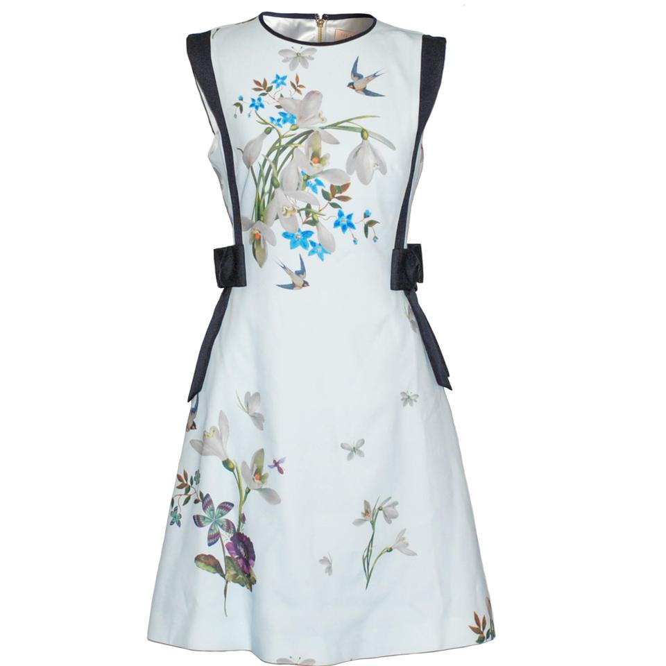 cdf909340 Ted Baker Light Blue Sipnela Spring Meadow A-line Bow Short Cocktail ...