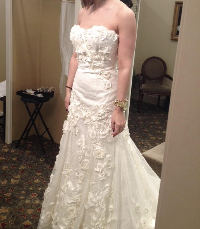 Coco Anais Ivory Polyester An149 Feminine Wedding Dress Size 4 (S ...