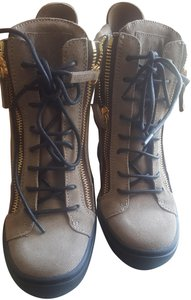 Giuseppe Zanotti Suede Leather Brown Wedges