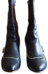 John Fluevog Black and ivory Boots