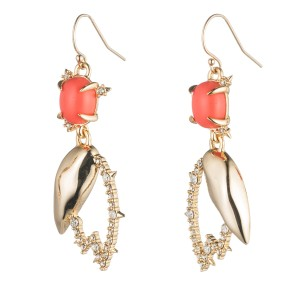 Alexis Bittar New Alexis Bittar Crystal Encrusted Abstract Tulip Drop Wire Earring