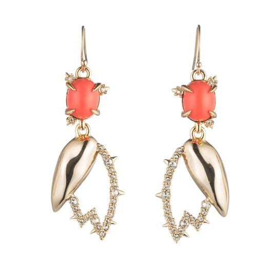 Alexis Bittar New Alexis Bittar Crystal Encrusted Abstract Tulip Drop Wire Earring Image 1