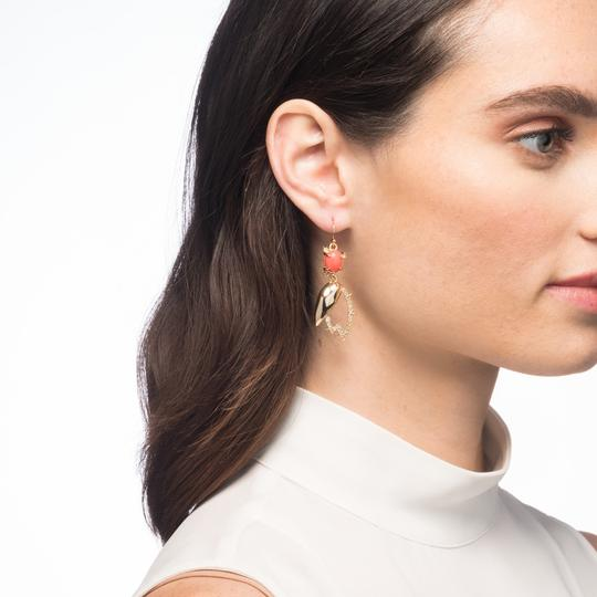 Alexis Bittar New Alexis Bittar Crystal Encrusted Abstract Tulip Drop Wire Earring Image 2