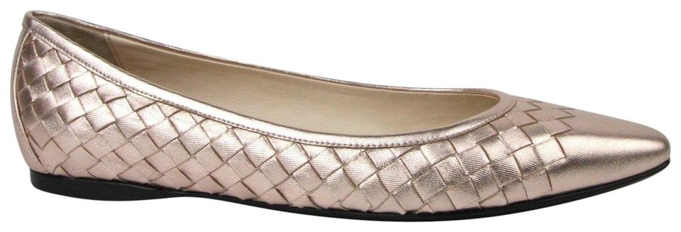 ff5f5ce838de Bottega Veneta Rose Gold Women Intrecciato Leather Pointed 39 Us 9 407066  5710 Flats