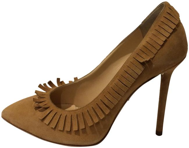 Item - Nude New Fringe Suede Pointy Toe Leather Pumps Size EU 36 (Approx. US 6) Regular (M, B)