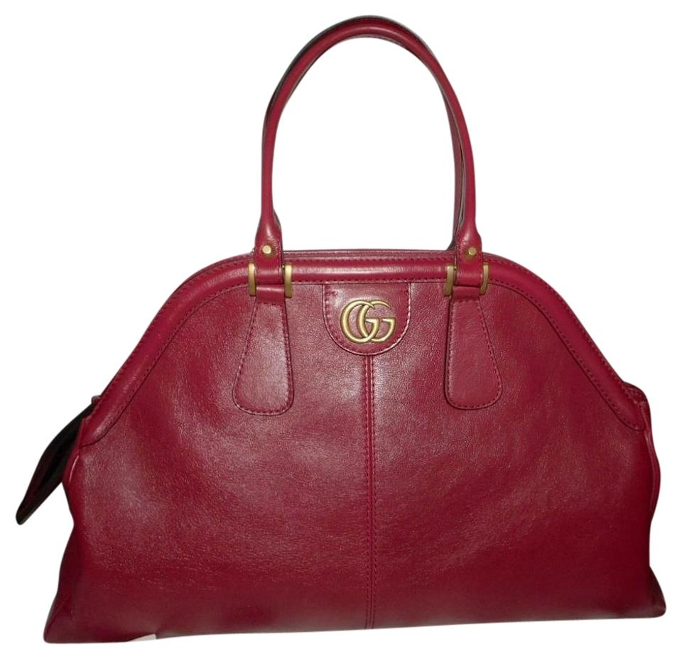 b09c6476db76 Gucci Re(Belle) Large Top Handle Romantic Cerise Leather Shoulder ...