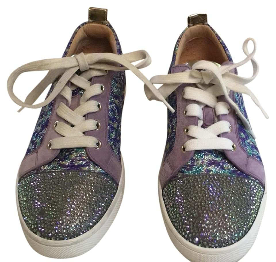 60f5a27c112a Christian Louboutin Lavender Gold Gondola Strass Low Top Sneaker Sneakers