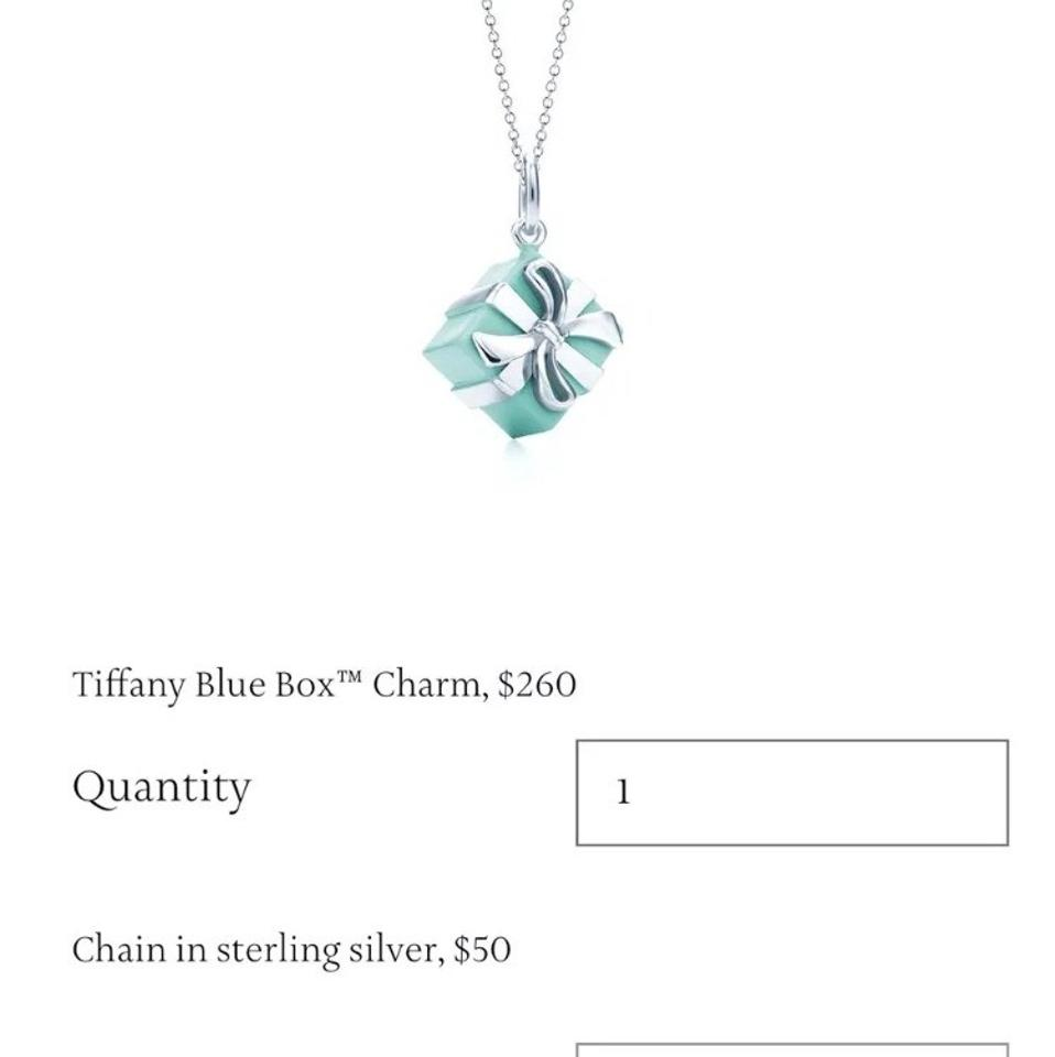f8fc52ebd02f3 Tiffany & Co. Box Co New Silver Blue Enamel Gift Necklace 49% off retail