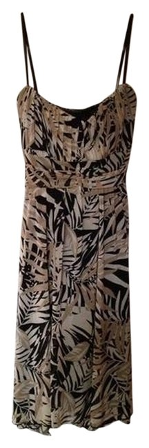 Preload https://img-static.tradesy.com/item/2323775/multi-tan-and-black-summer-evening-date-sexy-flowy-after-5-knee-length-night-out-dress-size-10-m-0-0-650-650.jpg