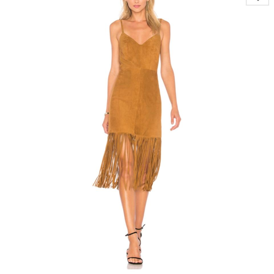 1502a61ccb1 House of Harlow 1960 Cognac Cara Suede Fringe Mid-length Night Out ...