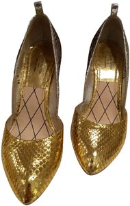 Louis Vuitton Python Two-tone Gold and SIlver Pumps