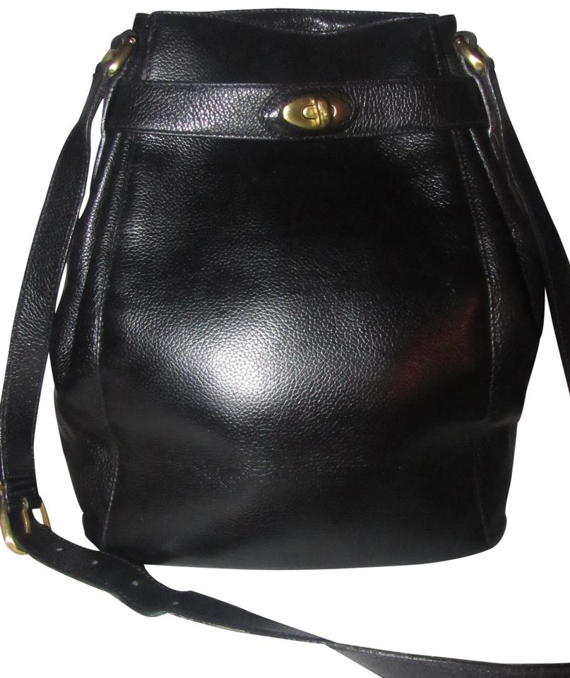 0ee670f9b3801 Coach Mint Vintage Unique Belted Top Madison Deauville Large Bucket Style  Early Style Satchel in black ...