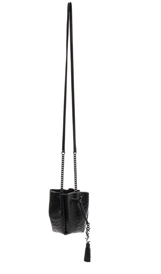 e5eab83dd4aa5 Saint Laurent Small Monogramme Embossed Python Bourse Cross Body Bag ...