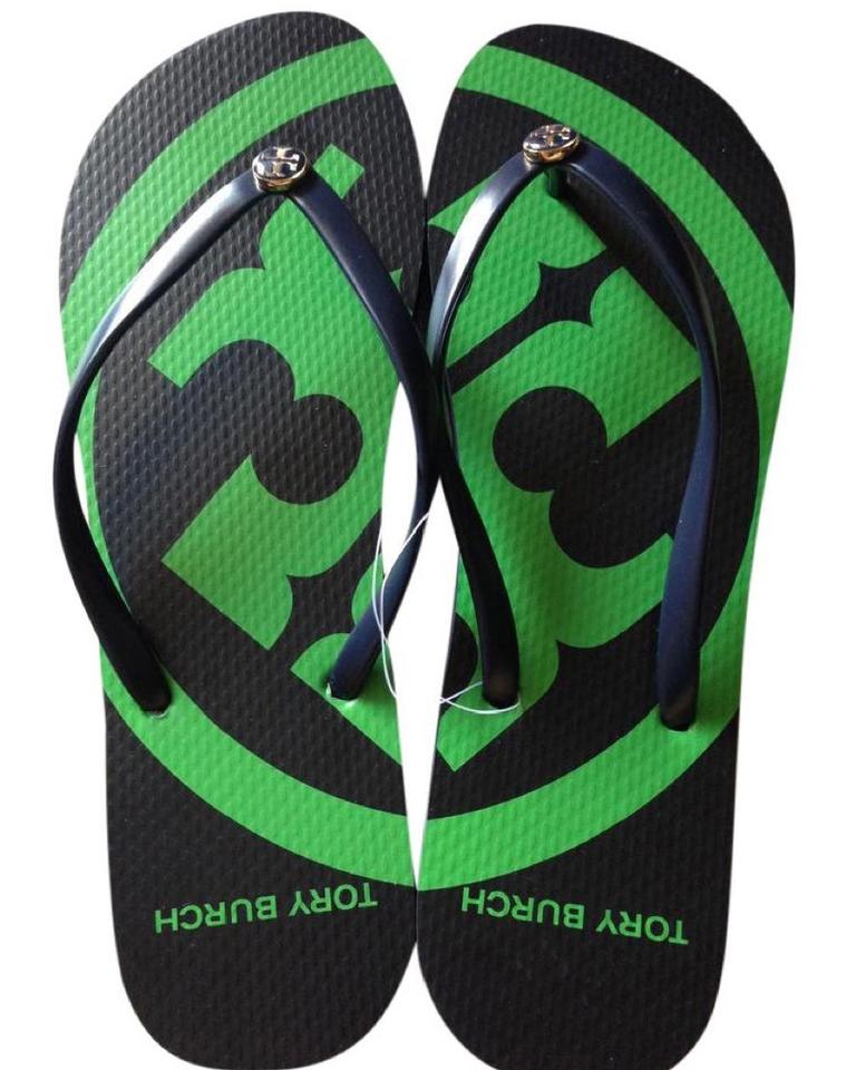 9dd75f7705a8 Tory Burch Multicolor Navy   Green Emory Flip Flop Sandals. Size  US 8 ...