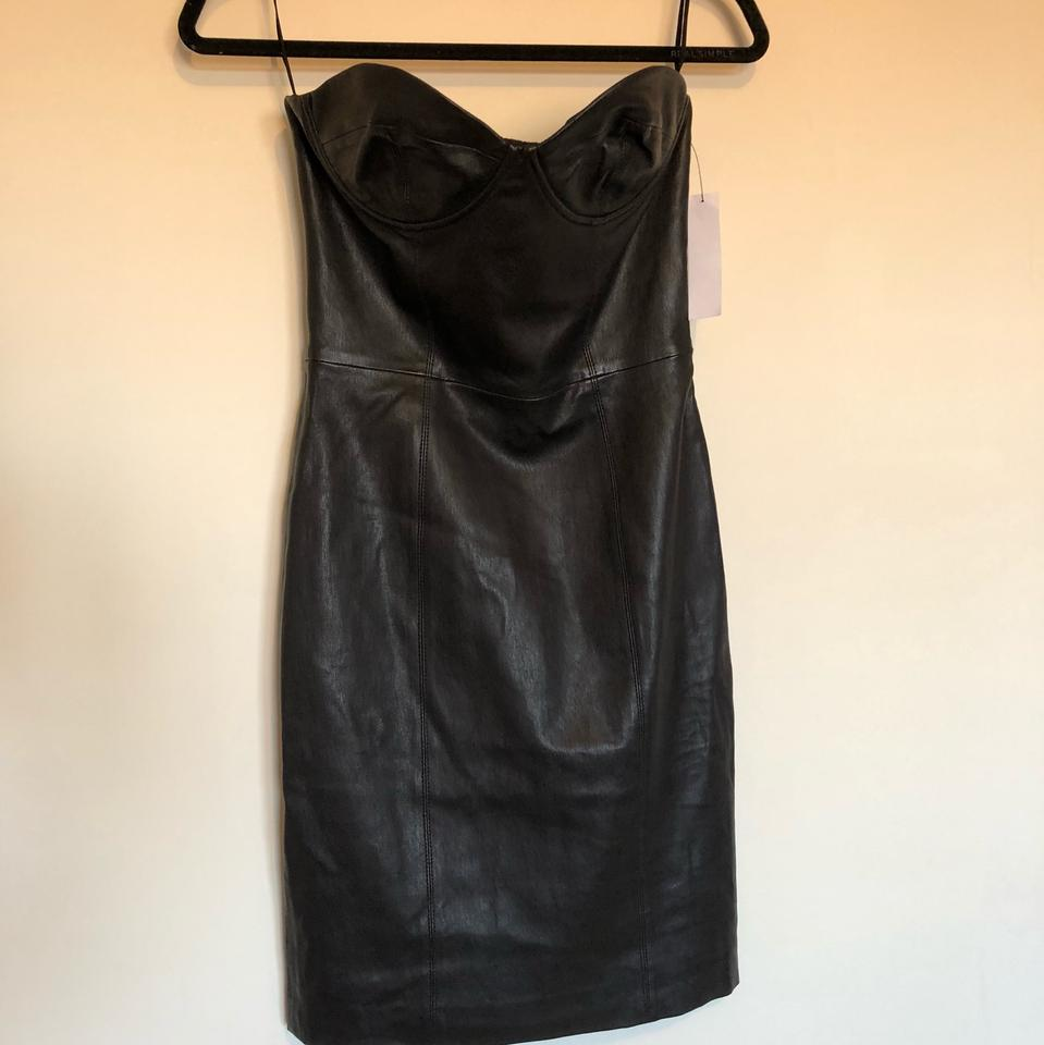 Bustier Alice Leather Olivia Out Night Black Dress Roxanne nzzqf4c81S