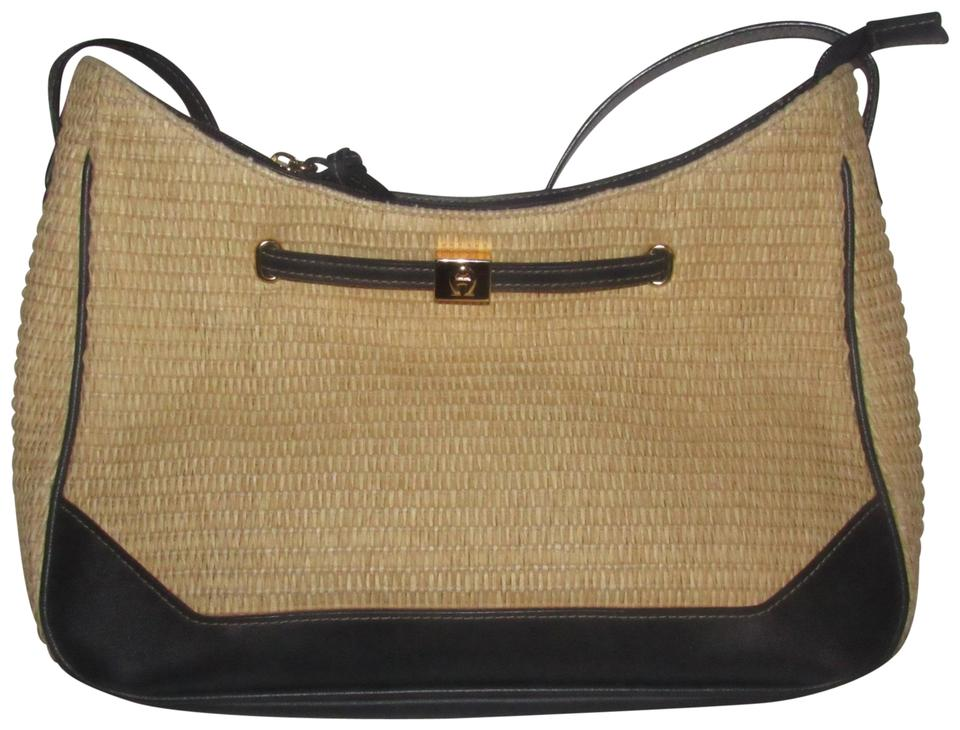 dfefb0ced729 Etienne Aigner Rare Raffia Leather High-end Bohemian Mint Vintage Multiple  Compartment Great Everyday ...