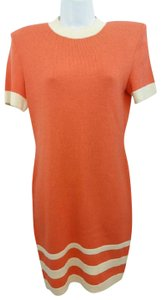 St. John short dress Orange on Tradesy