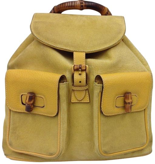 Preload https://img-static.tradesy.com/item/23239057/gucci-bamboo-handle-yellow-suede-leather-backpack-0-1-540-540.jpg