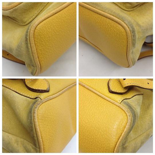Gucci Vintage Suede Leather Italian Bamboo Backpack Image 5