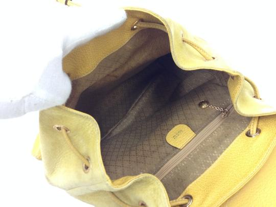 Gucci Vintage Suede Leather Italian Bamboo Backpack Image 6