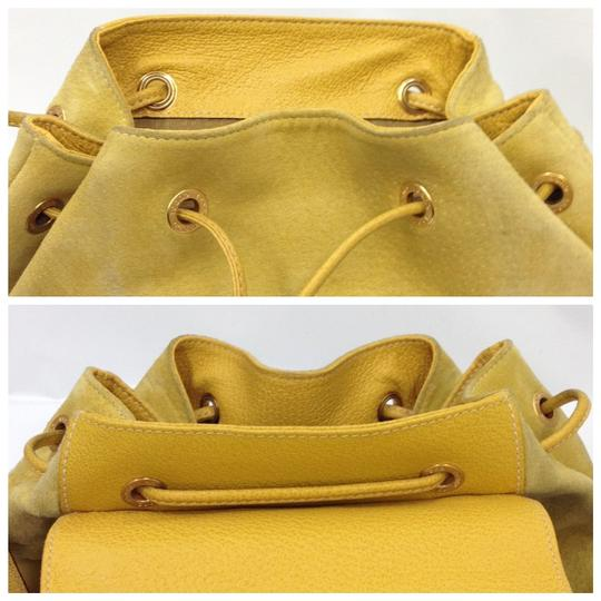 Gucci Vintage Suede Leather Italian Bamboo Backpack Image 7