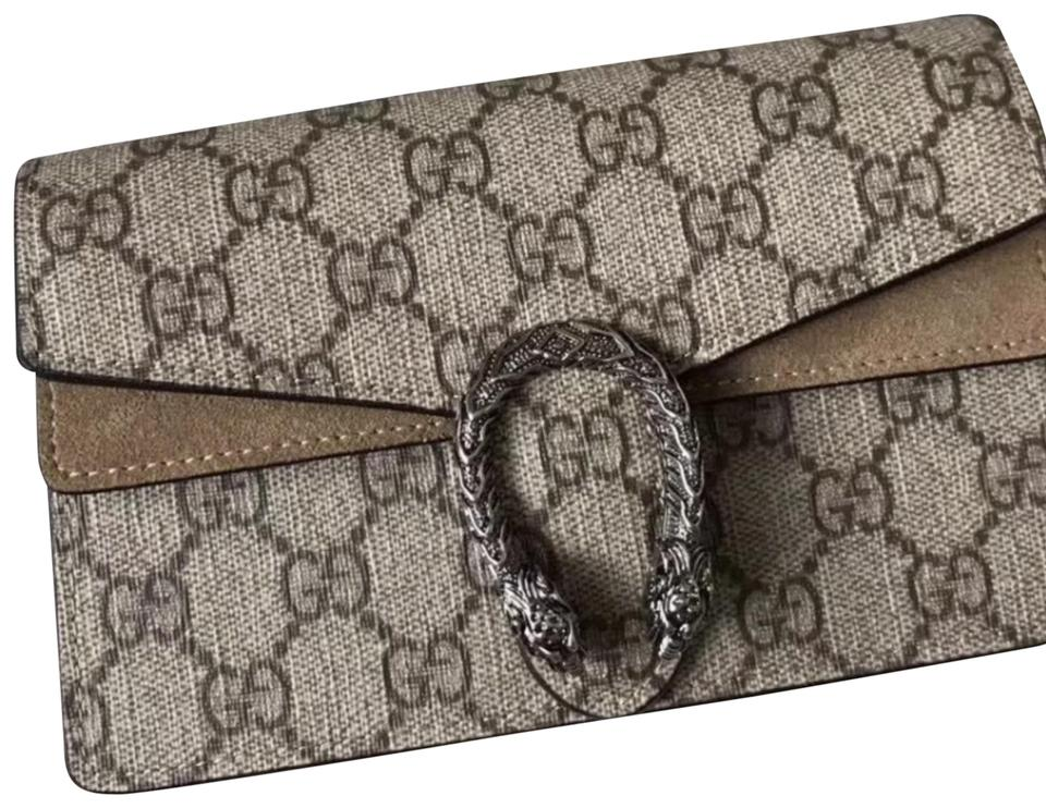 ee9ee45a0ca Gucci Dionysus Gg Mini Taupe Suede Cross Body Bag - Tradesy