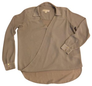 MICHAEL Michael Kors Top Beige with Gold Buttons