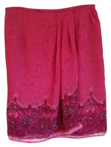 Other Summer Spring Casual Sporty Faux Wrap Skirt Fuschia pattern