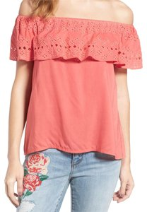 Sanctuary Ruffled Overlay Easy Breezy Cool + Comfy Super Sweet Super Soft Fabric Top Pink
