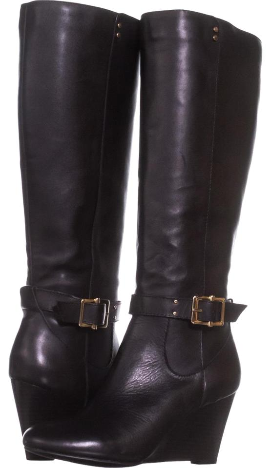 Black Asche Asche Black Knee High Buckle Boots/Booties 58183e