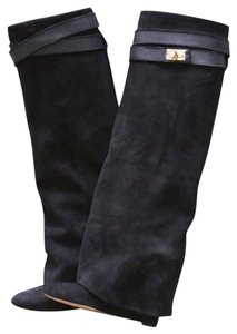 Givenchy Knee High Suede Black Boots