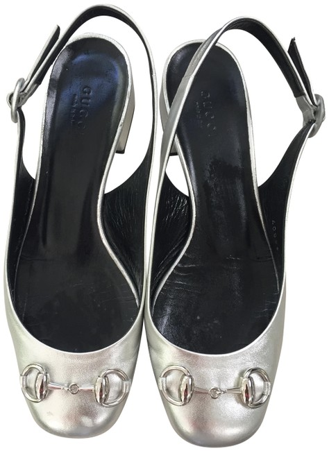 Item - Silver Metallic Retro Sling Back # 408281 Flats Size EU 36 (Approx. US 6) Regular (M, B)