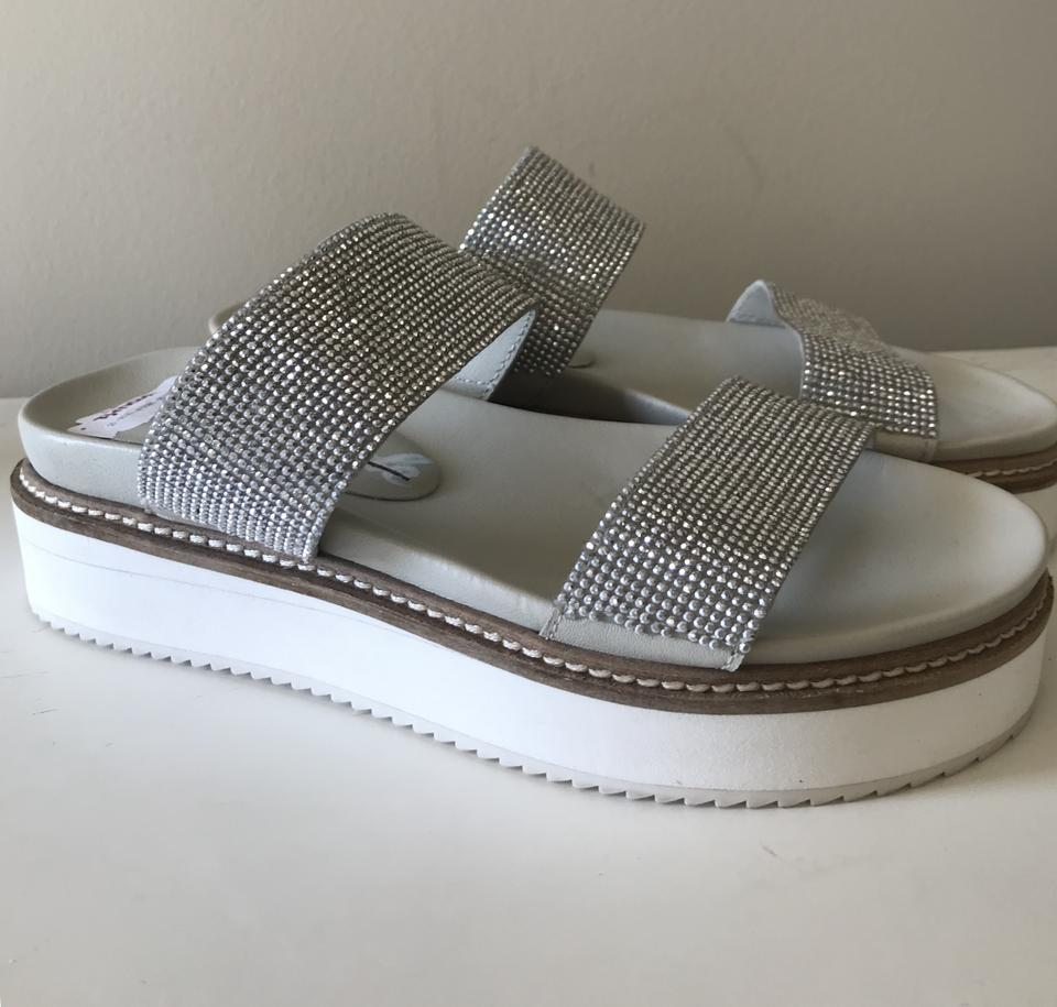 e7eef8cef0b Free People Silver Harper Gem Flatform Sandals Size EU 36 (Approx. US 6)  Regular (M
