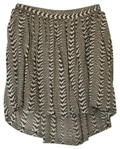 American Eagle Outfitters Mini Skirt green and cream