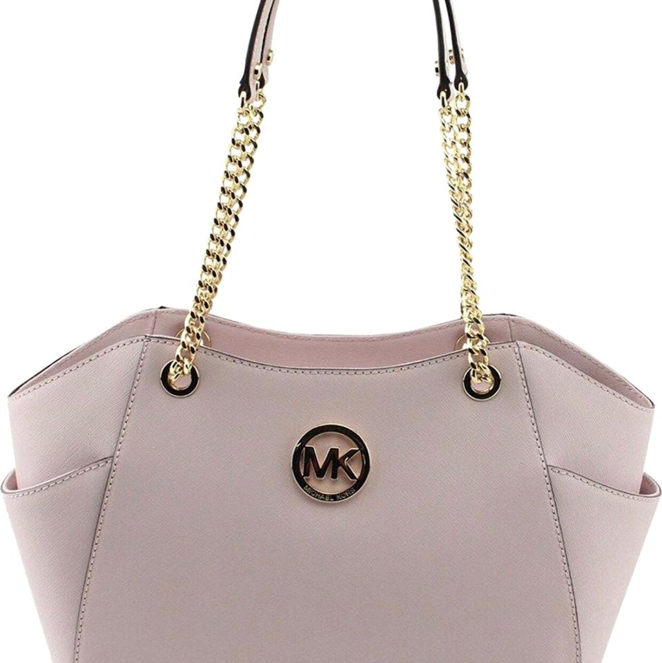 Michael Kors Womens Handbag Jet Set Travel 35t5gtvt3l Blossom Pink Saffiano  Leather Satchel 3c38dfcec1a4c