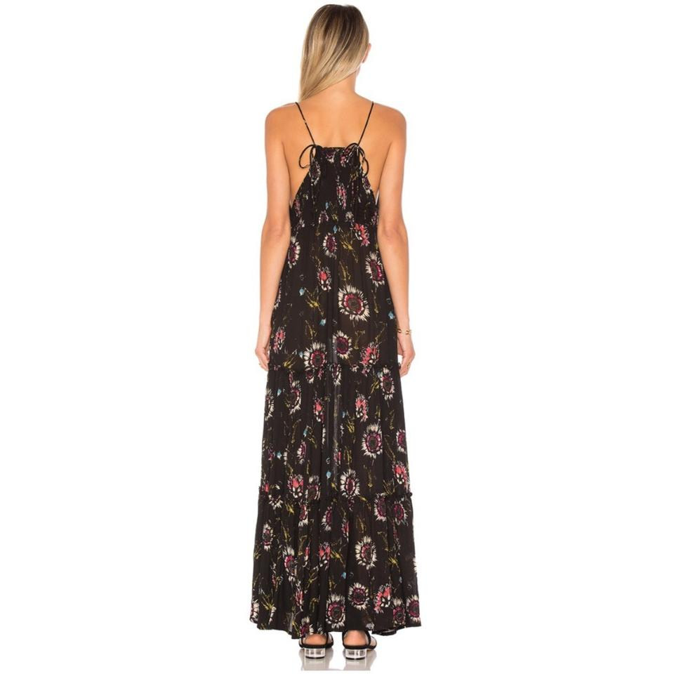 Casual Party Black People Free Dress Garden Maxi Floral qPTwxzH
