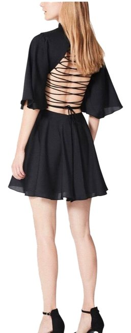 Item - Black Lace Up Short Night Out Dress Size 2 (XS)