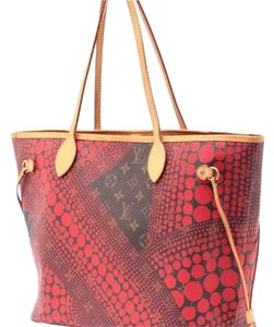 Louis Vuitton Neverfull Rare Sold Out Limited Edition Waves Tote in Red Monogram