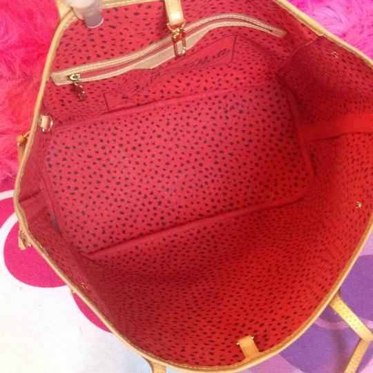Louis Vuitton Neverfull Rare Sold Out Limited Edition Waves Tote in Red Monogram Image 4
