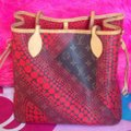 Louis Vuitton Neverfull Rare Sold Out Limited Edition Waves Tote in Red Monogram Image 9