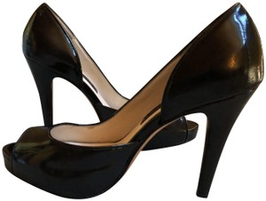Steven by Steve Madden Platform Stiletto Leather Sexy Black patent Pumps