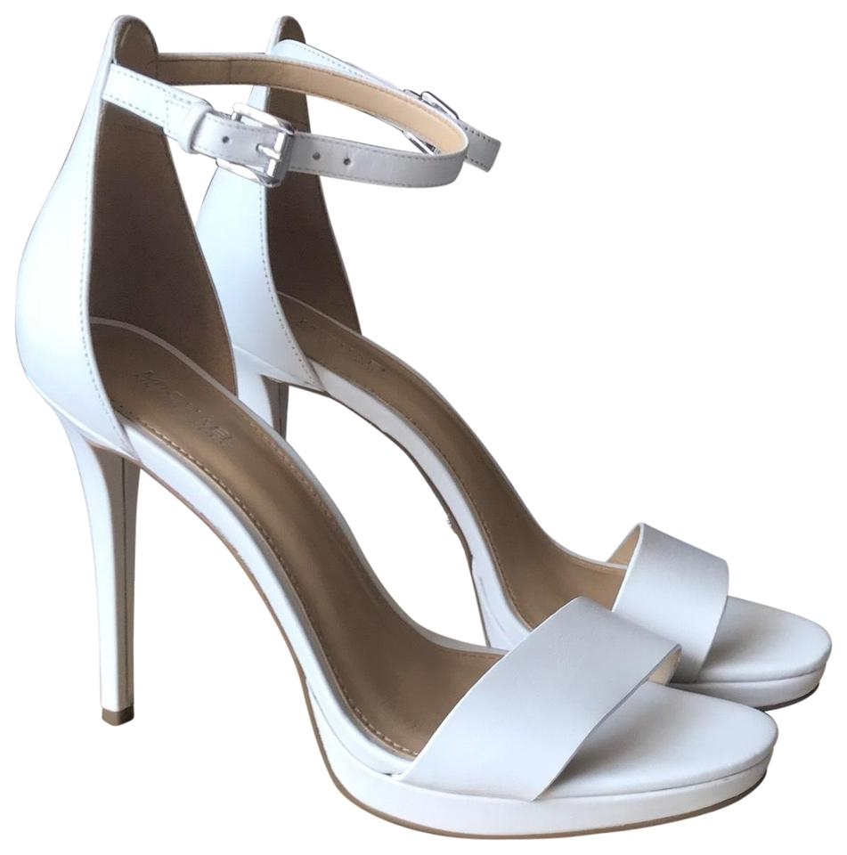 01426ad641a MICHAEL Michael Kors White Hutton Sandal Leather Formal Shoes Size ...