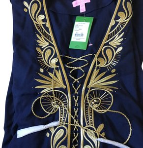 fac63d425c Lilly Pulitzer Lilly Pulitzer Cover-up Chai Caftan in True Navy
