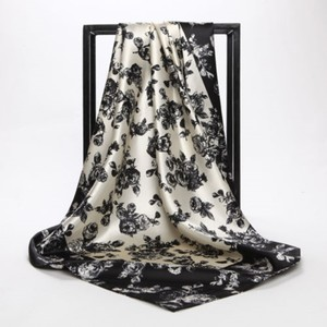 """Black & White Buy 1 Get 2 Free 35"""" X 35"""" Only Scarves Read Description Free Shipping"""