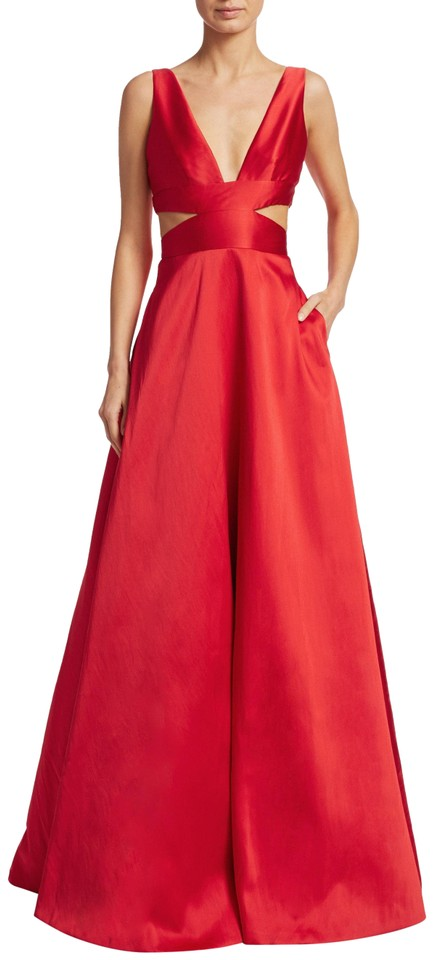 Monique Lhuillier Red Style Code: 0400096525806 Long Formal Dress ...