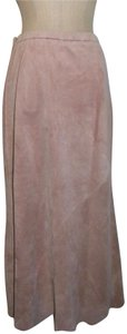 Terry Lewis Classic Luxuries Vintage Suede Leather Skirt Pink