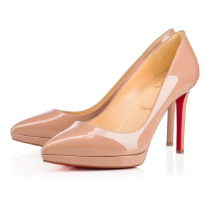 Christian Louboutin Pigalle Plato Pigalle Heels Point-toe Nude Pumps